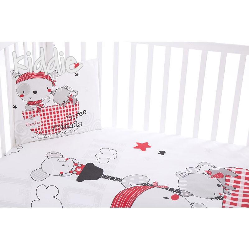 Бебешки спален комплект Kikkaboo 3 части Pirates
