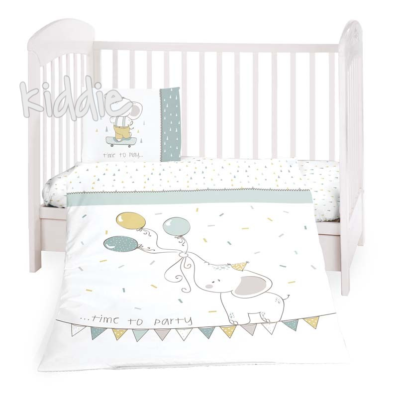Бебешки спален комплект Kikkaboo от 3 части Elephant Time