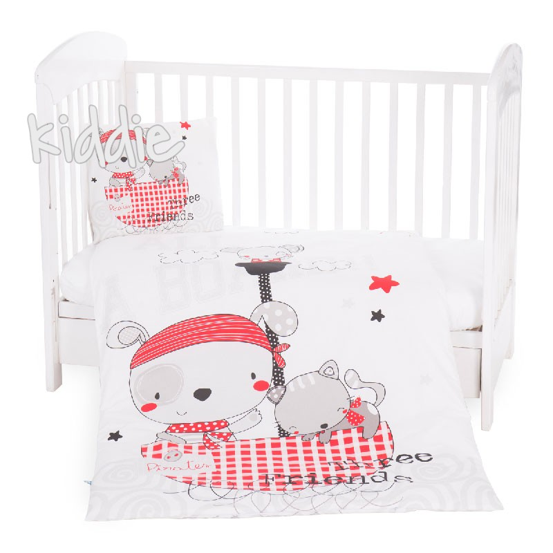 Бебешки спален комплект Kikkaboo от 5 части Pirates