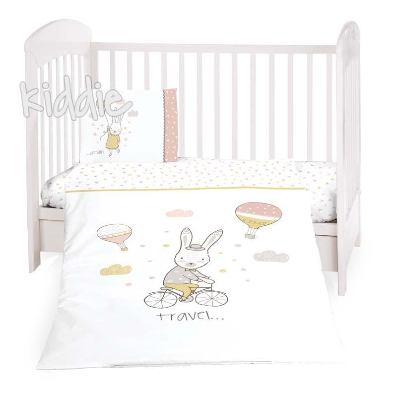 Бебешки спален комплект Kikkaboo от 5 части Rabbits in Love