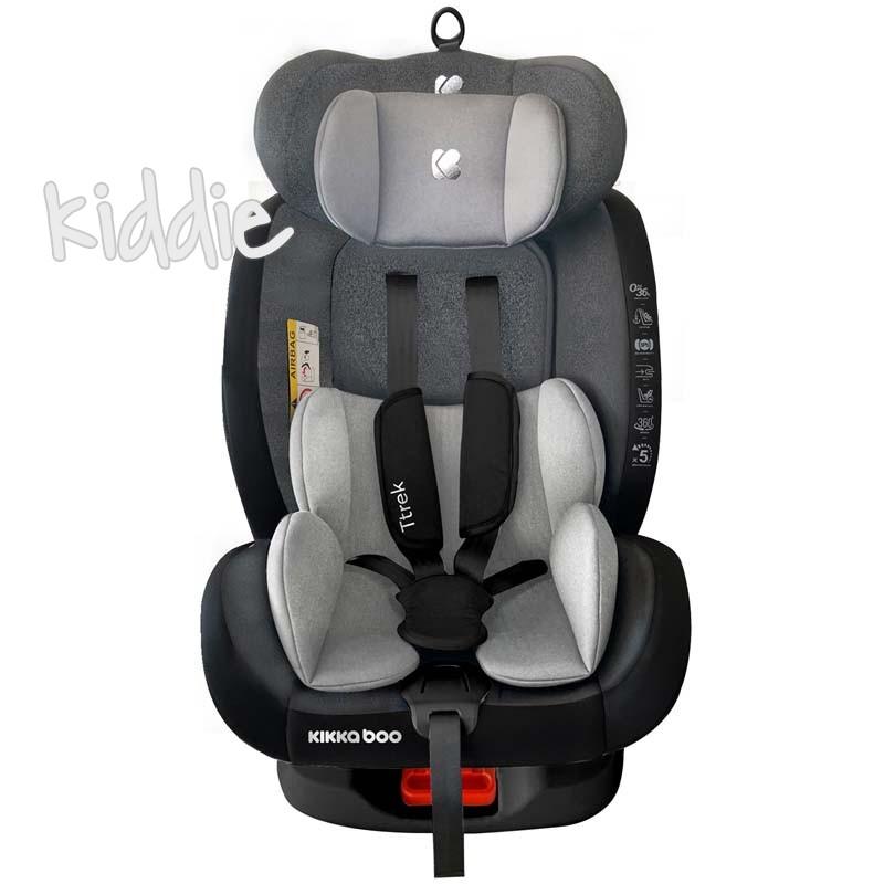 Kikka boo Стол за кола 0 1 2 3  от 0 до 36 кг Ttrek Grey 2020