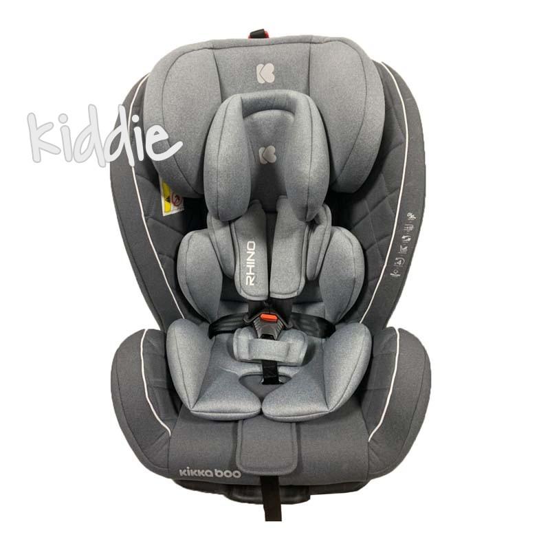 Kikka boo Стол за кола 0 1 2 3  от 0 до 36 кг Rhino ISOFIX Grey