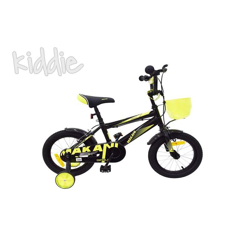 Kikka boo Makani Детски велосипед 12 Diablo Black Yellow
