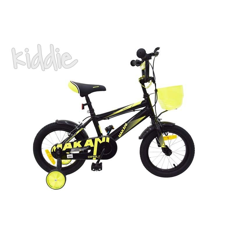 Kikka boo Makani Детски велосипед 14 Diablo Black Yellow