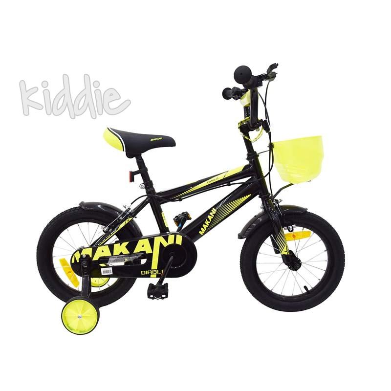 Kikka boo Makani Детски велосипед 16 Diablo Black Yellow
