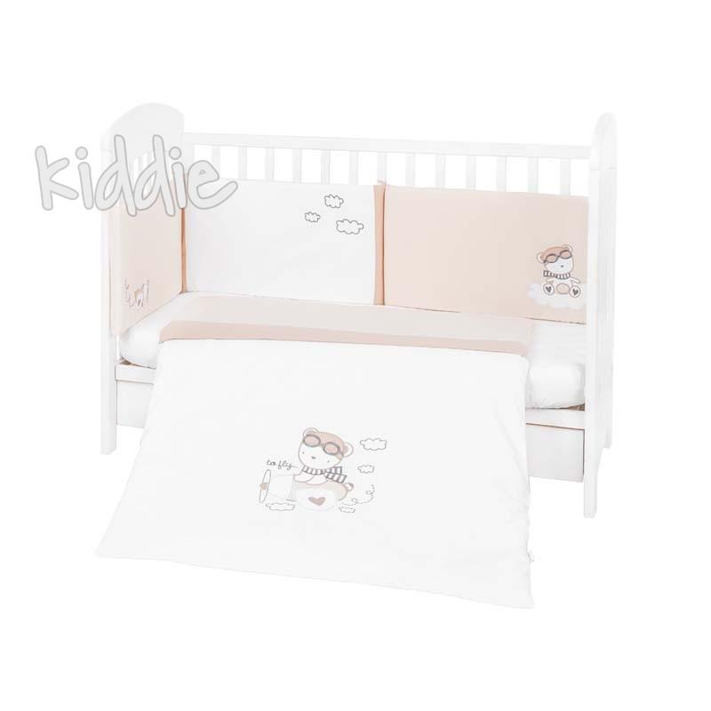 Kikka boo Бебешки спален комплект 2 части EU style 60х120 с бродерия Dreamy Flight