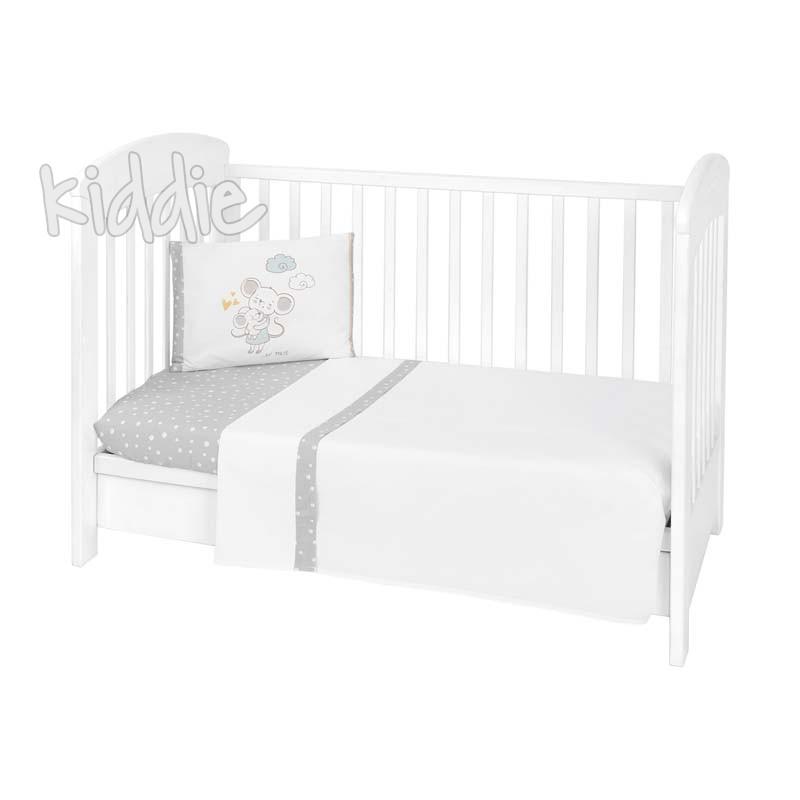 Бебешки спален комплект Kikkaboo 3 части EU Style 70 х 140 Joyful Mice