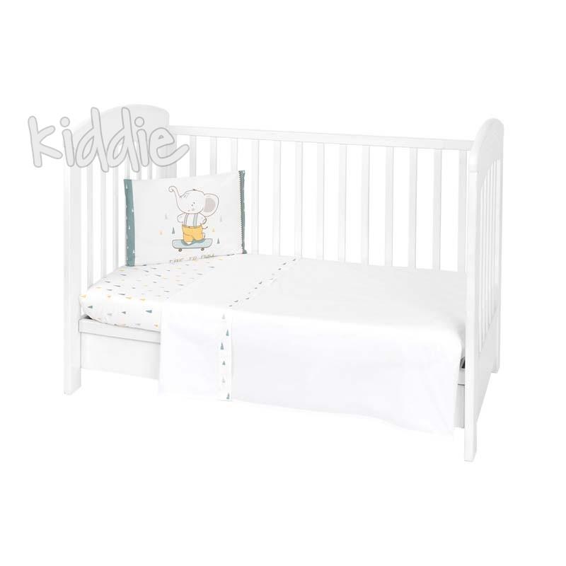 Бебешки спален комплект Kikkaboo 3 части EU Style 70 х 140 Elephant Time