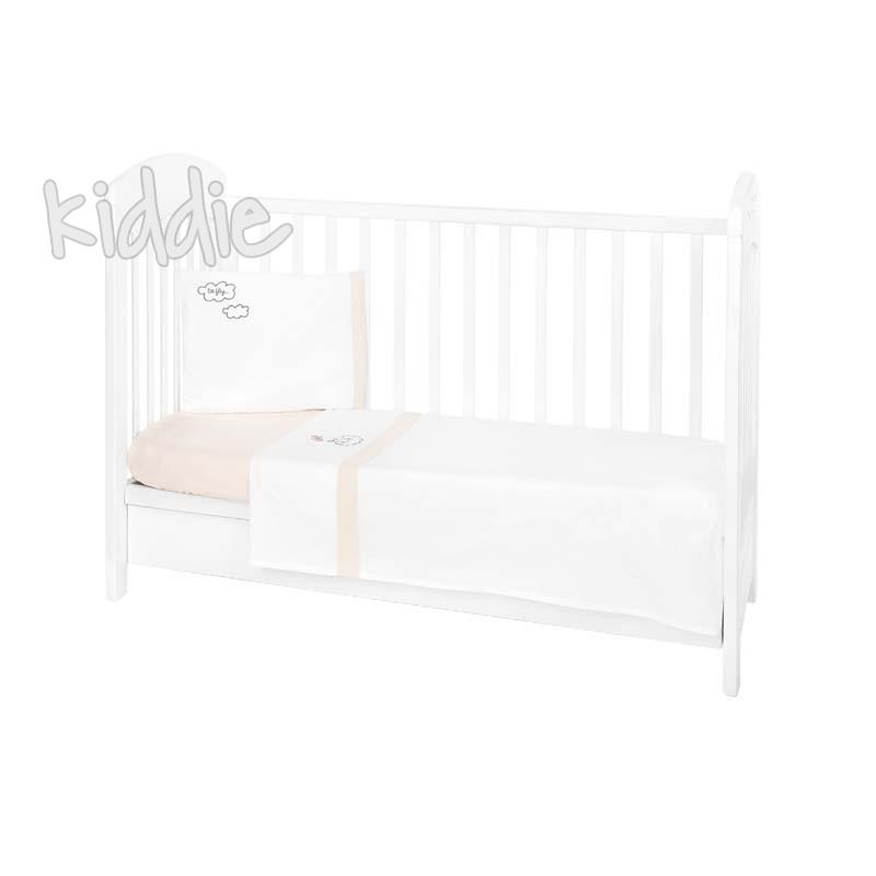 Kikka boo Бебешки спален комплект 3 части EU Style 70х140 с бродерия Dreamy Flight