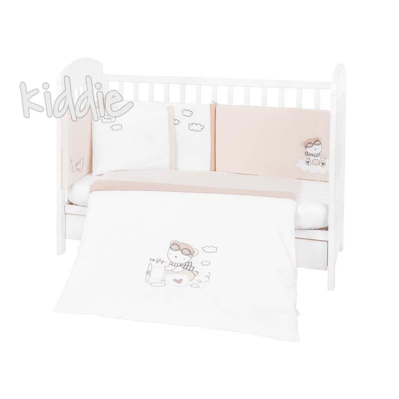 Kikka boo Бебешки спален комплект 6 части 60х120 с бродерия Dreamy Flight