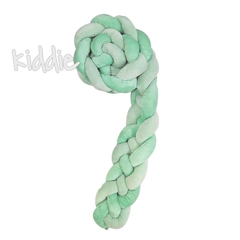 Kikka boo Плетен плюшен обиколник 180 см 4 плитки 15 см Mint
