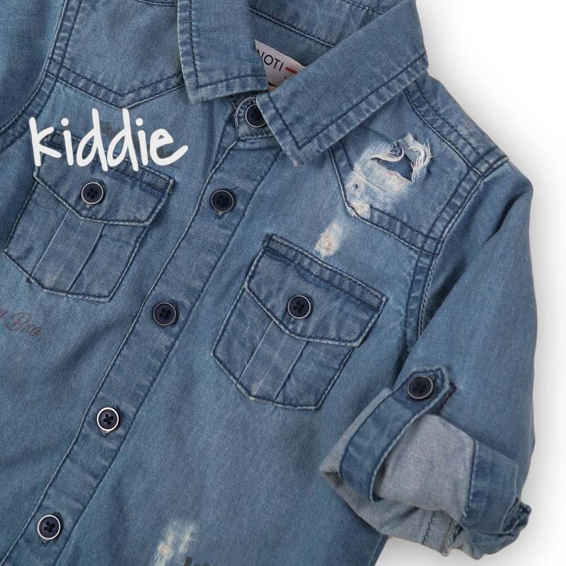018e4c79477 Детска дънкова риза Minoti Whats up за момче | Kiddie