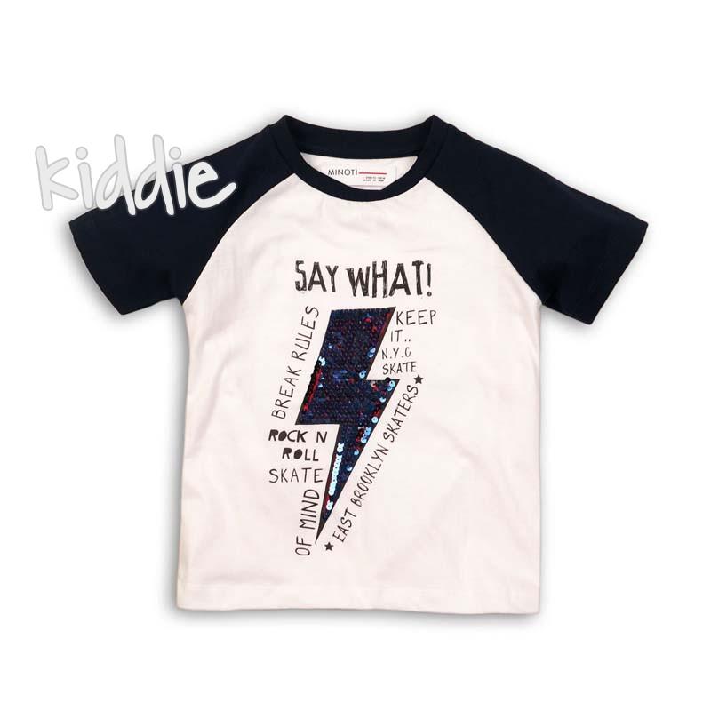 Бебешка тениска Minoti Say what за момче