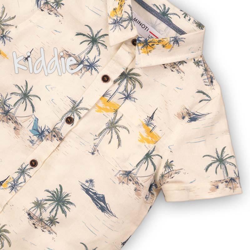 Детска риза Minoti с принт за момче
