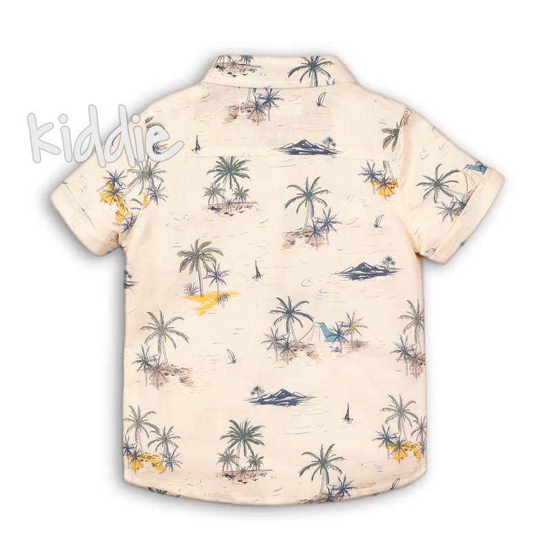 Бебешка риза Minoti с принт за момче