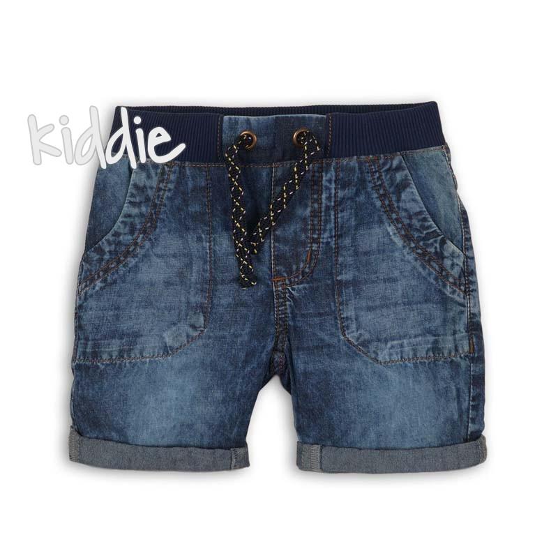 Бебешки къси панталони Minoti от деним за момче