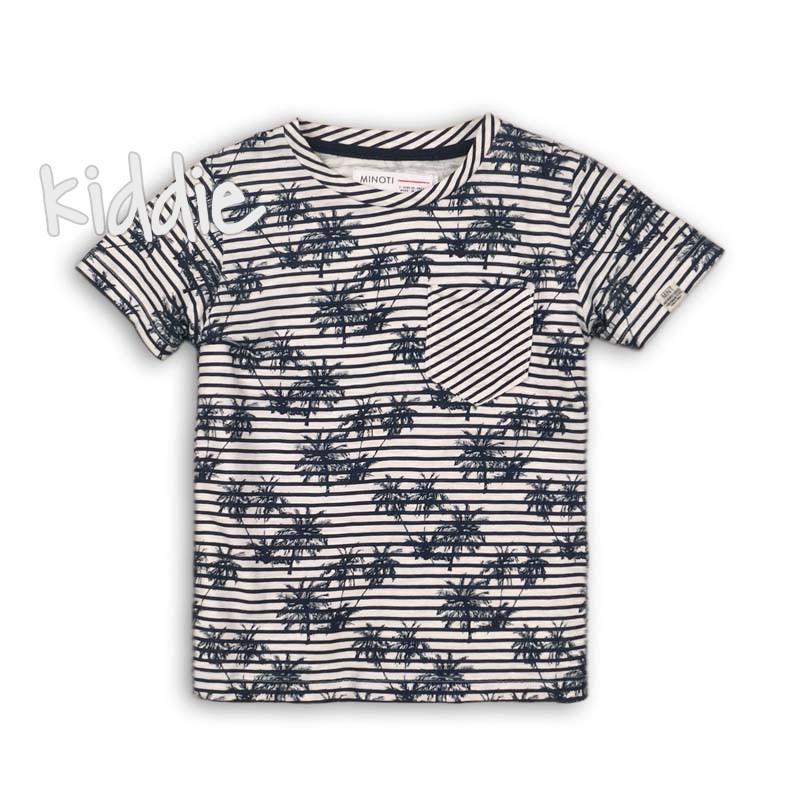 Бебешка раирана тениска Minoti за момче