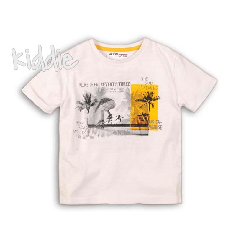 Детска тениска Minoti с принт за момче