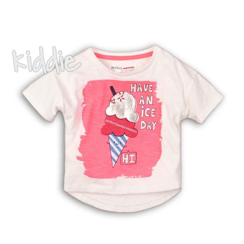 Детска тениска Minoti Have a nice day за момиче