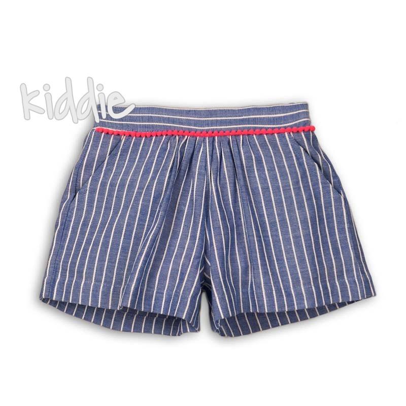 Бебешки къси панталони Minoti в райе за момиче
