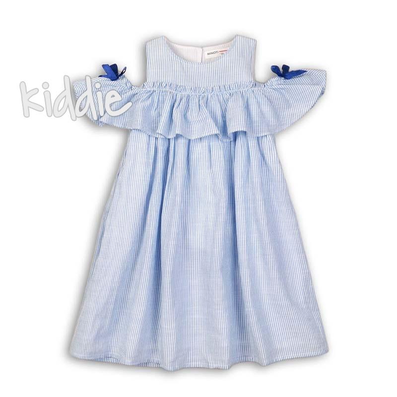 Детска рокля Minoti в райе с панделки
