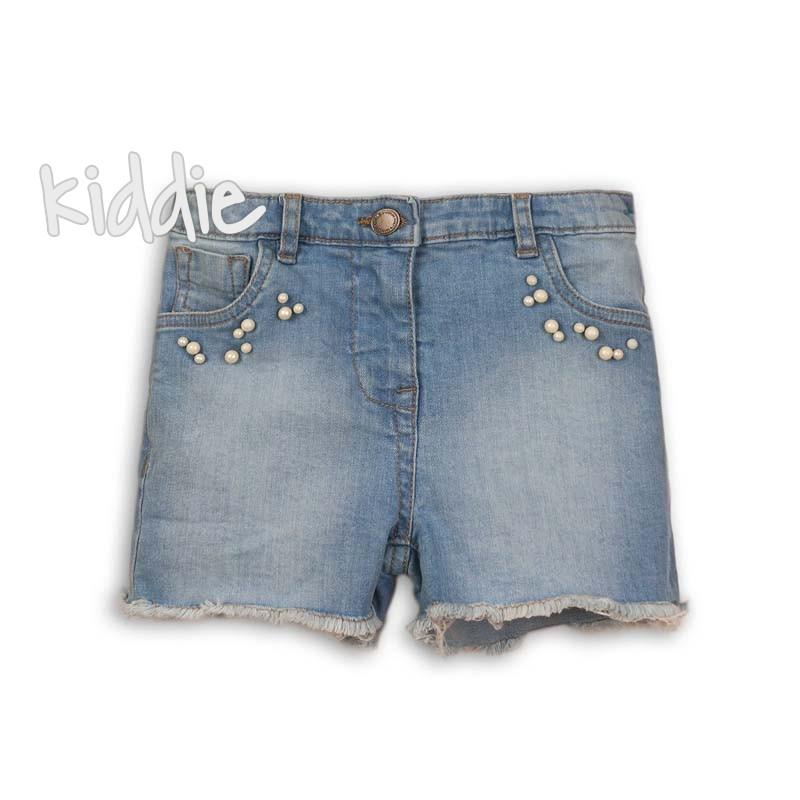 Детски дънкови къси панталони Minoti за момиче