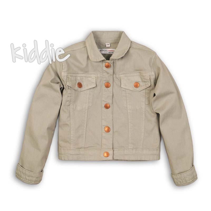 Детско цветно дънково яке Minoti за момиче