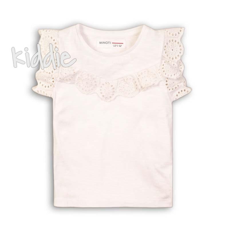Детска тениска Minoti с декорация за момиче