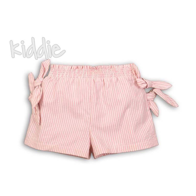 Бебешки къси панталони Minoti с връзки за момиче