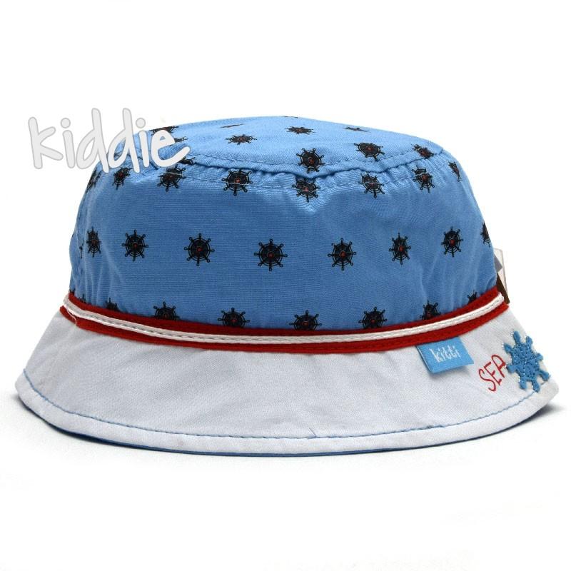 Бебешка шапка Kitti за момче на корабни рулове и периферия