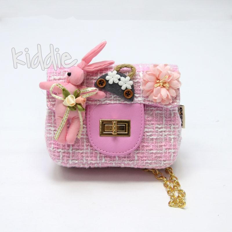 Детска чанта със Заек и цвете