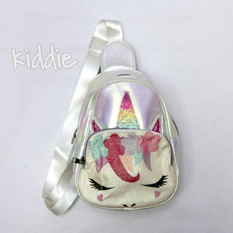 Детска раница с една презрамка Еднорог с мигли