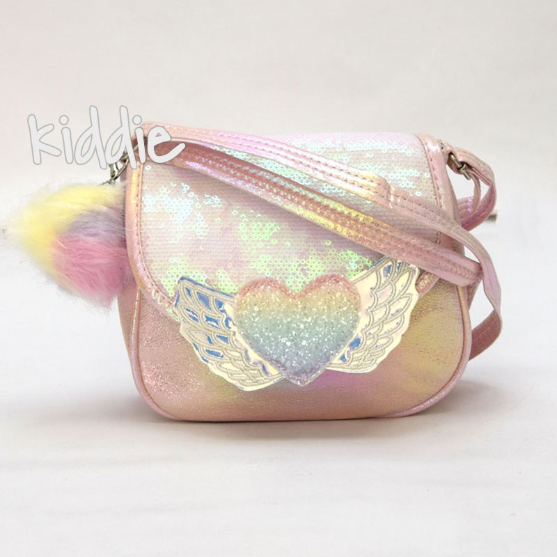 Детска чанта Сърце с пухче
