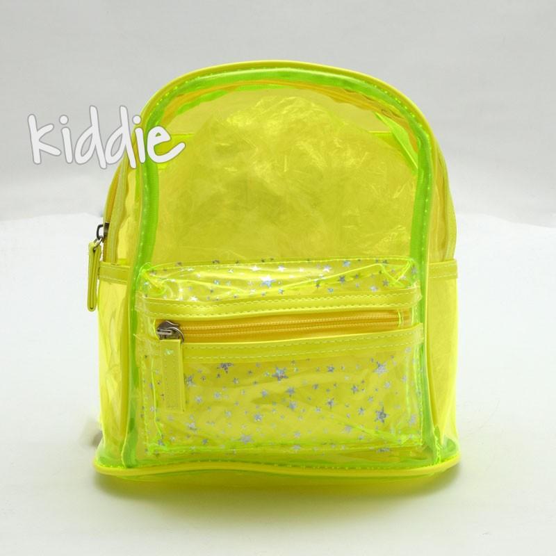 Прозрачна детска раничка с преден джоб