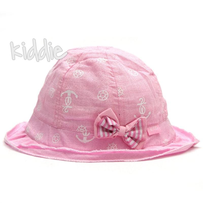 Детска шапка Kitti с връзки за момиче