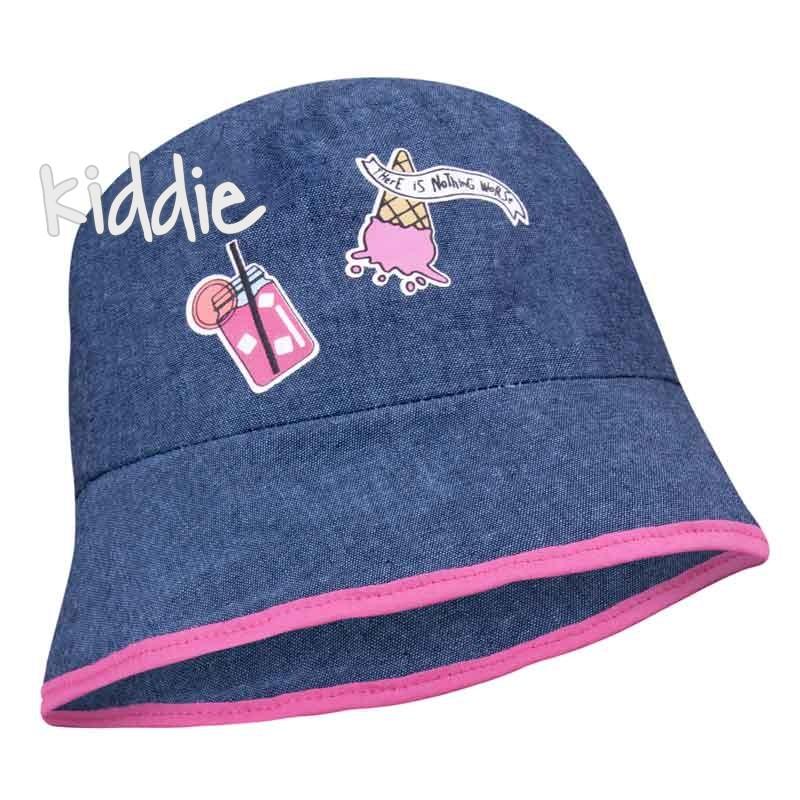 Детска шапка EAC от деним за момиче