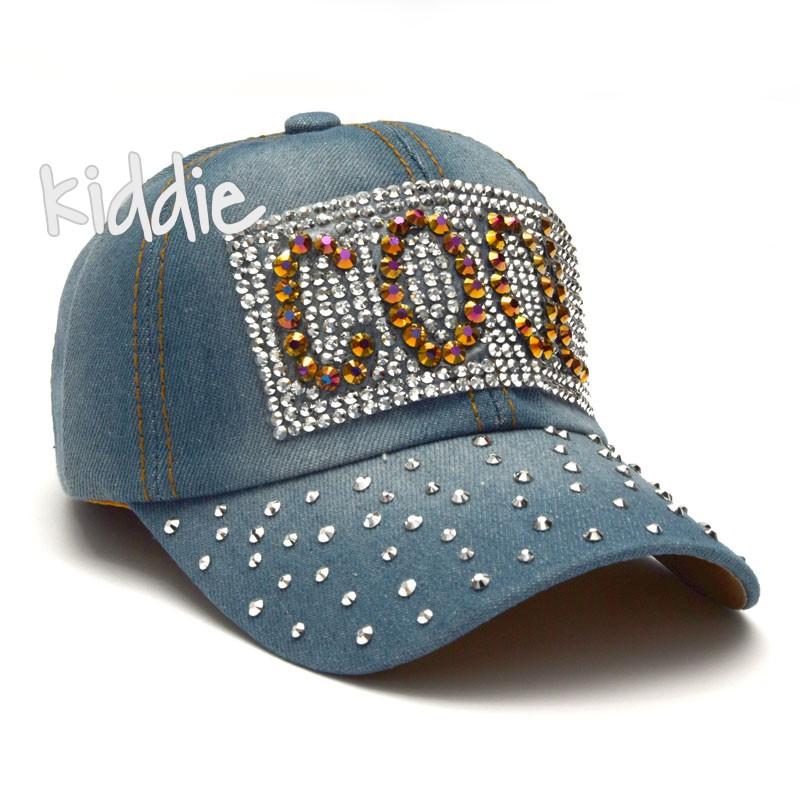 Детска дънкова шапка Cool, Kitti за момиче