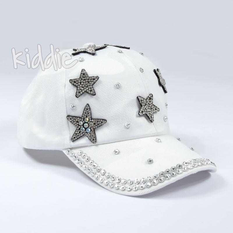 Детска шапка със звезди за момиче Kitti