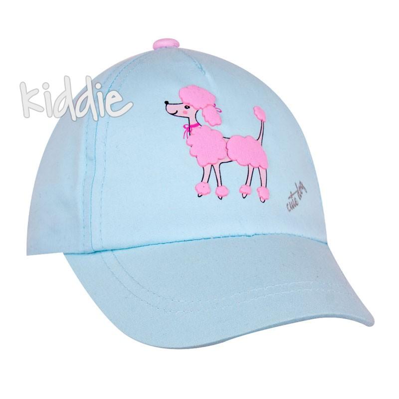 Детска шапка EAC за момиче с пудел