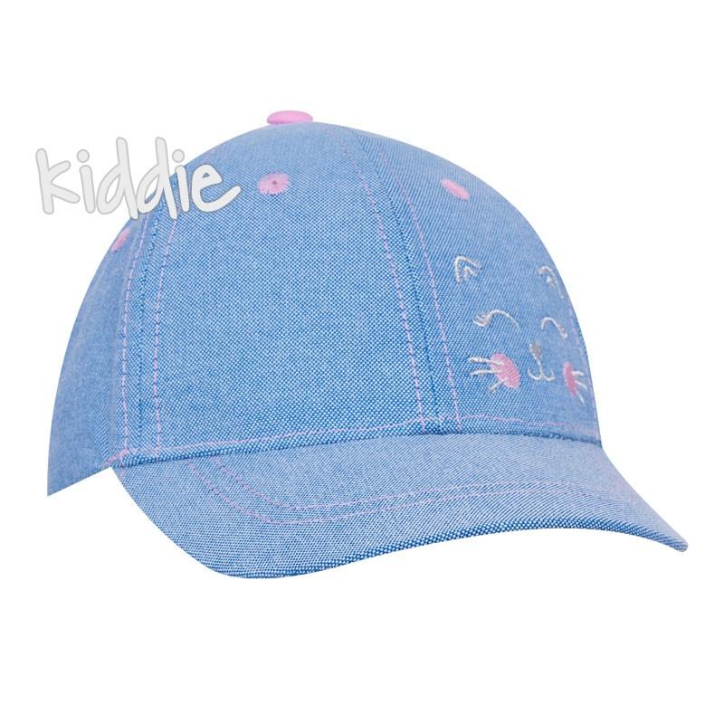 Детска шапка EAC за момиче с коте