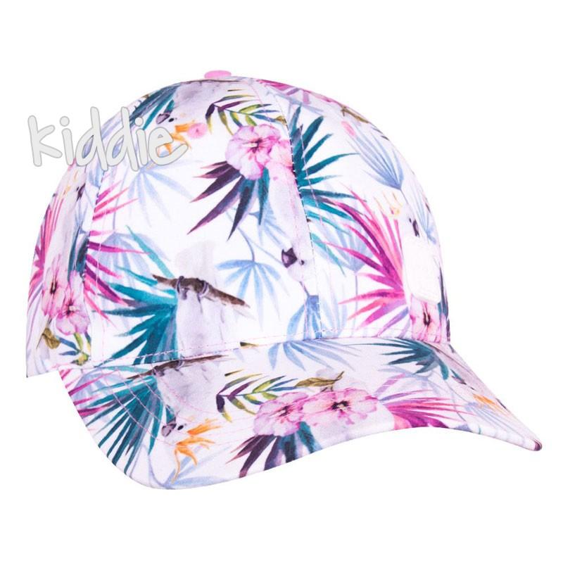 Детска шапка EAC за момиче с папагал