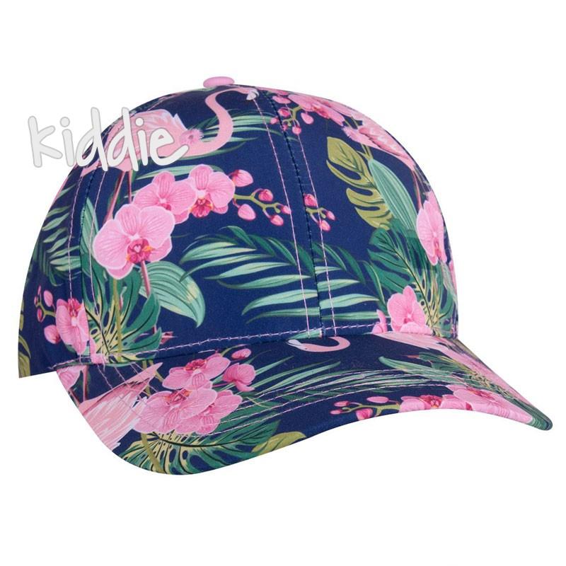 Детска шапка EAC за момиче с фламинго
