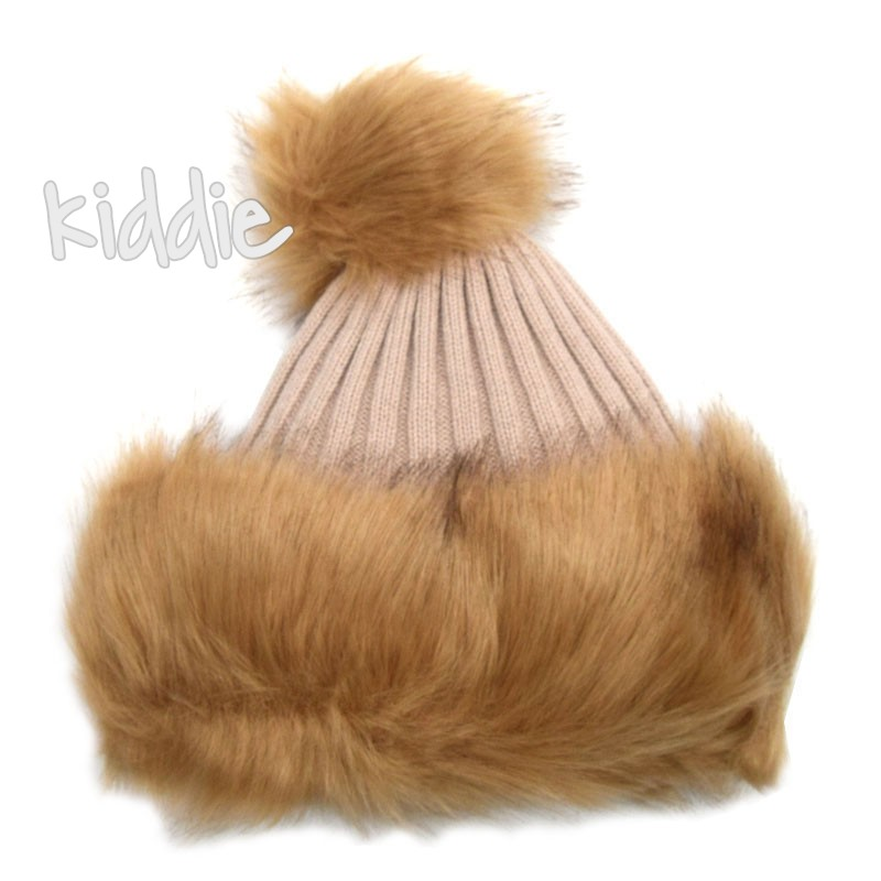 Детска шапка с поларен хастар