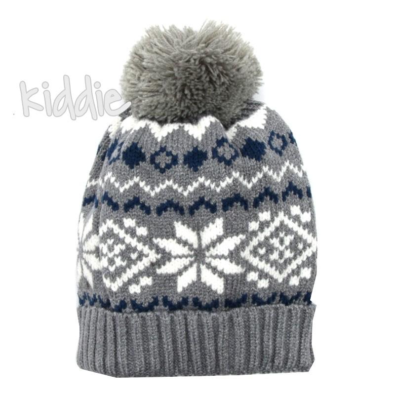 Бебешка плетена шапка