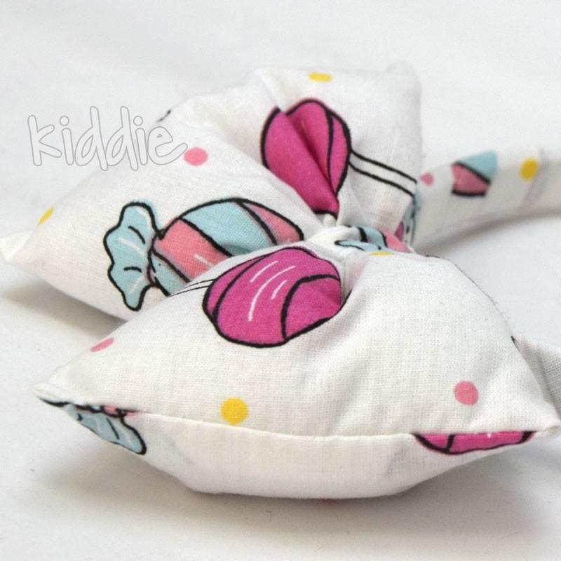 Детска диадема ръчна изработка с мека панделка