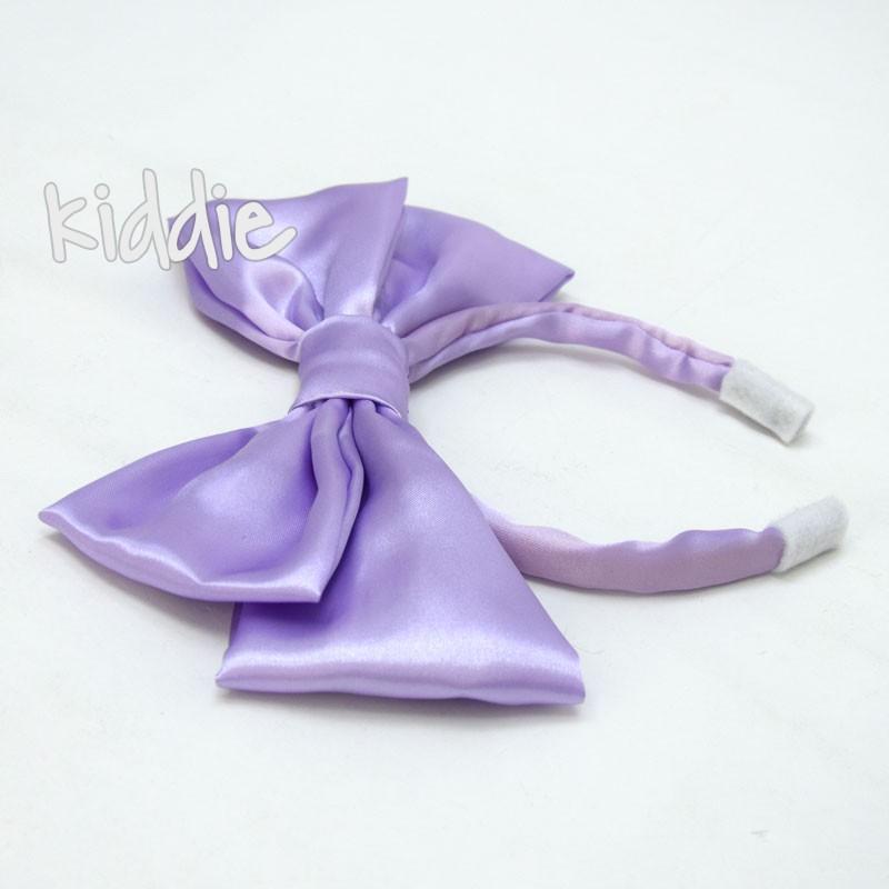 Детска диадема ръчна изработка с голяма панделка