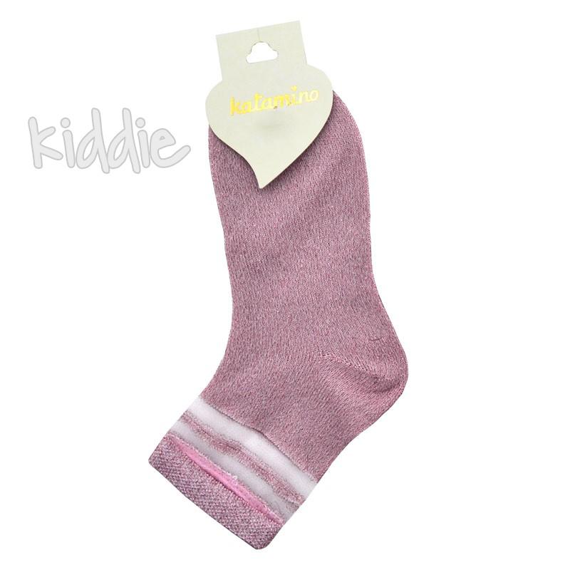 Детски къси чорапи Katamino с ламе