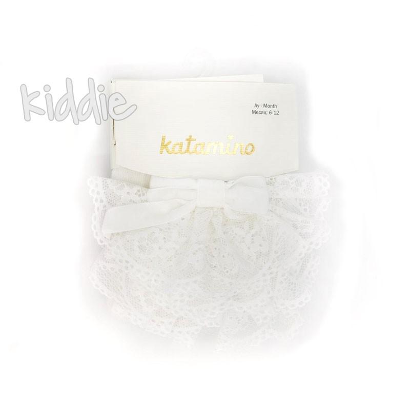 Бебешки чорапогащи Katamino за момиче с панделка