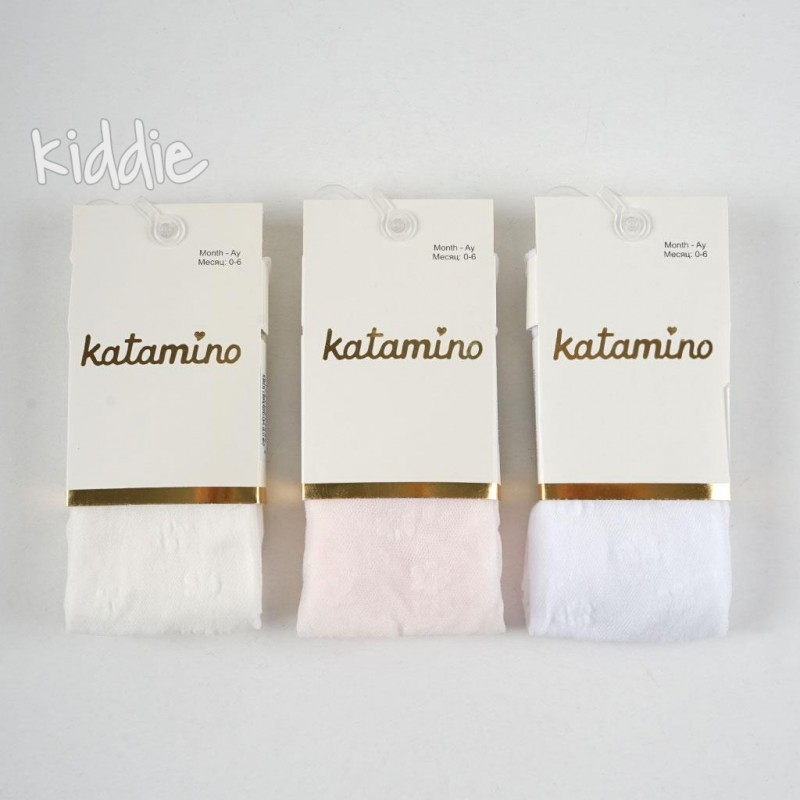 Бебешки чорапогащи Katamino на цветя