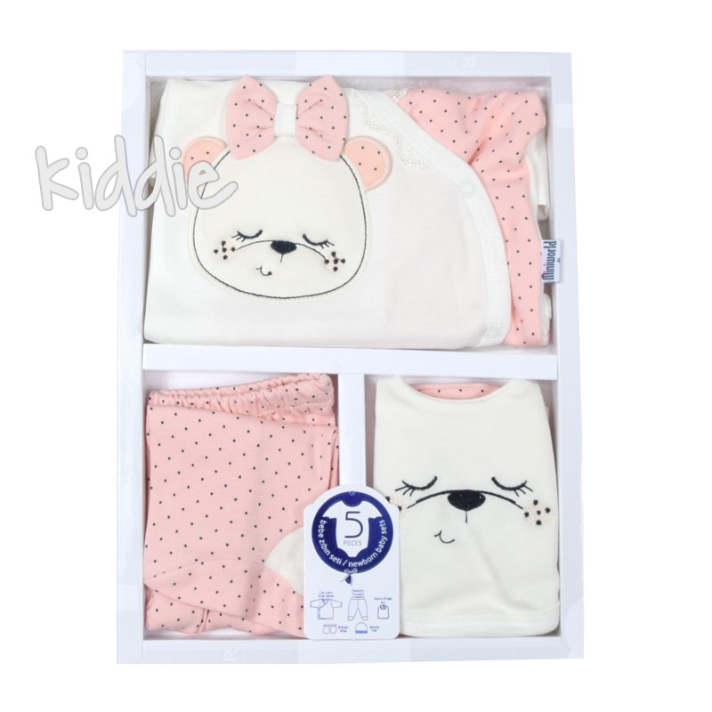 Бебешки комплект 5 части за момиче Miniworld
